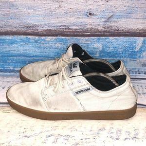Supra Men's Size 10.5 Sneaker Beige Lace Up